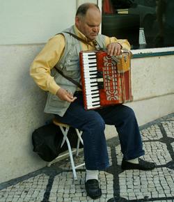 Lisbon Accordian Busker
