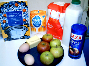 Portuguese Apple Tart Ingredients